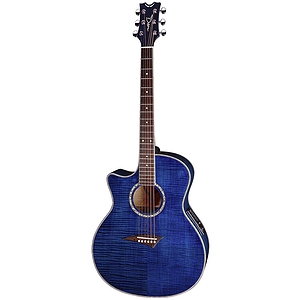 Dean Exotica Acoustic Electric Guitar Left Handed Model Gloss