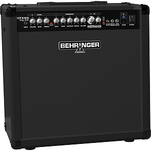 Behringer GTX60 Guitar Combo Amplifier with 2 Channels, FX, Tuner, Tube Modeling - 1x12, 60W
