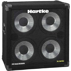 "Hartke 410XL XL Series Bass Amplifier Cabinet - 4x10"", 400-watts"