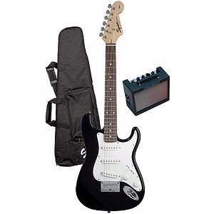Fender® Squier® Children's Electric Guitar Package - Black