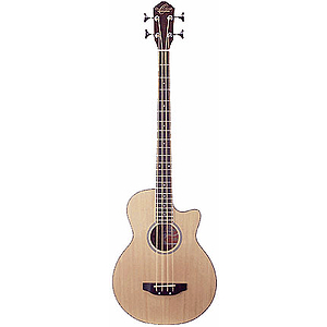 Oscar Schmidt Acoustic-Electric Bass - Natural Finish