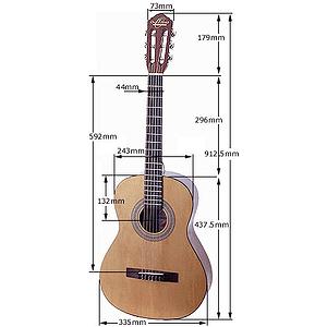 Oscar Schmidt 3/4-size Classical Guitar