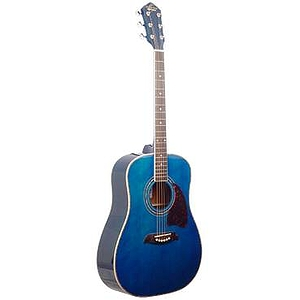 Oscar Schmidt 3/4-Size Acoustic Guitar - Blue Finish