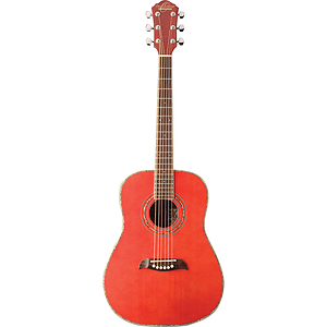 Oscar Schmidt 3/4-Size Acoustic Guitar - Red Finish