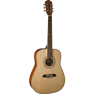 Oscar Schmidt OG1LH Left-handed 3/4-size Steel-string Acoustic Guitar - Natural