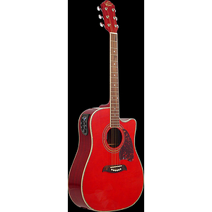 Oscar Schmidt OG2CE Acoustic-Electric Guitar - Red