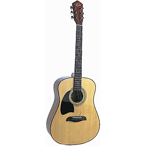 Oscar Schmidt Left-handed Dreadnought Acoustic - Natural Finish