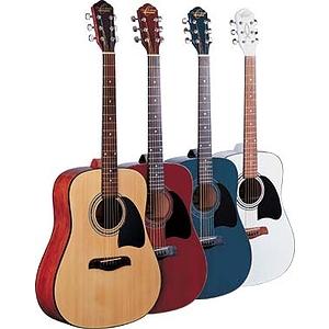 Oscar Schmidt OG2 Dreadnought Acoustic Guitar - Red
