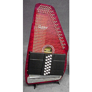 Oscar Schmidt OS21C Autoharp - Quilted Red