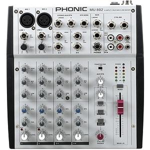 Phonic MU802 8-input Compact Mixer