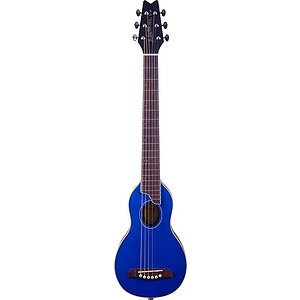 Washburn Rover Travel Guitar - Steel String, Blue