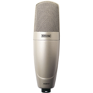 Shure KSM32/SL Embossed Single-Diaphragm Condenser Microphone - Champagne/Silver Finish