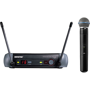 Shure PGX24/BETA58 UHF Vocal Wireless Mic System