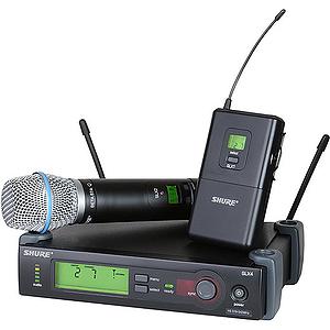 Shure SLX124/85/SM58 UHF Wireless Combo Mic System