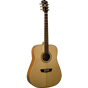 Washburn WD10S WD10 Series Solid-top Dreadnought Acoustic Guitar - Natural