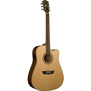 Washburn WD10SCE Dreadnought Acoustic-Electric Guitar - Natural