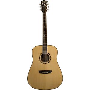 Washburn WD10SLH Left-handed Acoustic Guitar - Natural