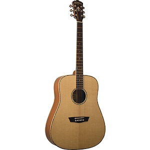 Washburn WD15S Solid-top Dreadnought Acoustic Guitar - Natural