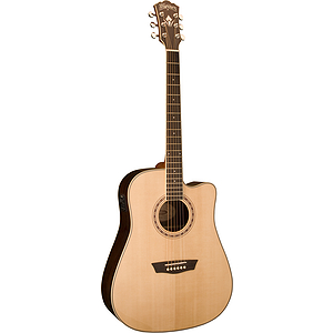 Washburn WD20SCE WD20 Series Solid-top Dreadnought Acoustic-Electric Guitar - Natural