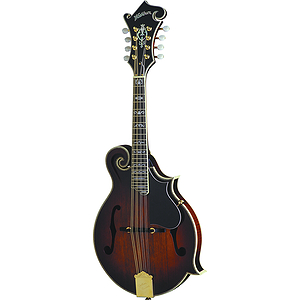 Washburn M6SW Florentine-style Solid-top Mandolin w/ AAA Flamed Maple Body - Sunburst - with case