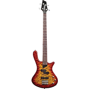 Washburn T14Q Electric Bass Guitar - Quilted Tobacco Sunburst