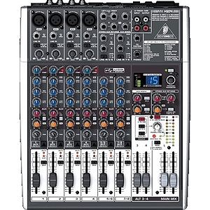 Behringer XENYX X1204USB Premium 12-Input 2/2-Bus Mixer with Multi-FX, Audio Interface and Recording Software