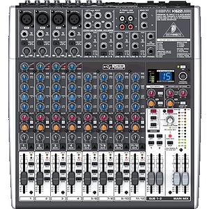 Behringer XENYX X1622USB Premium 16-Input 2/2-Bus Mixer with Multi-FX, Audio Interface and Recording Software