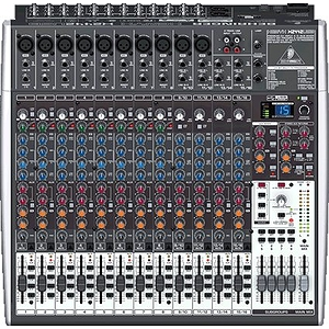 Behringer XENYX X2442USB Premium 24-Input 4/2-Bus Mixer with Multi-FX, Audio Interface and Recording Software