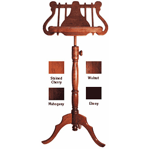 Diamond Valley Woodworking MS15 Deluxe Wooden Music Stand - Lyre Style Rack - Walnut