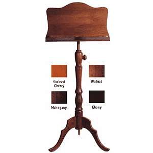 Diamond Valley Woodworking MS20 Deluxe Wooden Music Stand - Solid Face Rack - Ebony