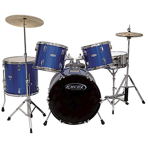 Excel 505 Series 5 Piece Drum Set, Blue