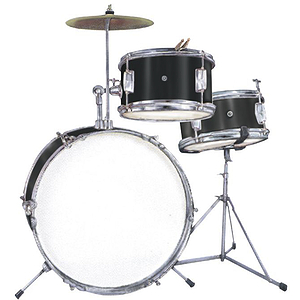 "Excel 3 Piece ""Junior"" Drum Set, Black"