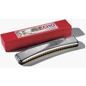 Hohner 48 Hole Double Sided Echo Harmonica, Key of A - D