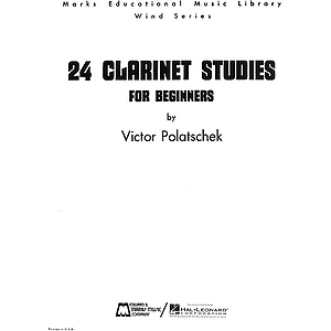 24 Clarinet Studies for Beginners