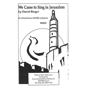 We Came to Sing in Jerusalem