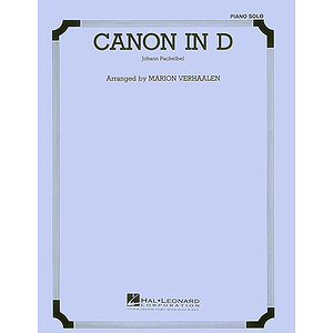 Canon in D - Piano or Organ Solo