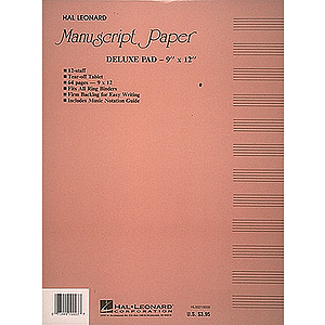 Manuscript Paper (Deluxe Pad) (Taupe Cover)