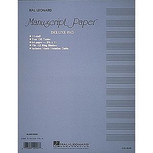 Manuscript Paper (Deluxe Pad)(Blue Cover)