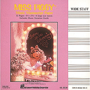 Miss Piggy Manuscript Paper