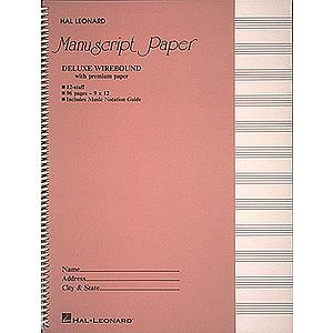 Deluxe Wirebound Premium Manuscript Paper (Pink Cover)