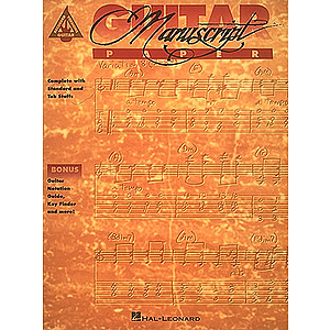 Recorded Versions Guitar Tablature Manuscript Paper