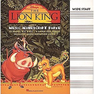 The Lion King Manuscript Paper