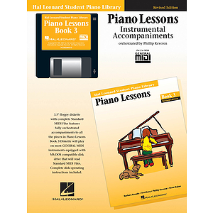 Piano Lessons Book 3 - GM Disk - Revised Edition