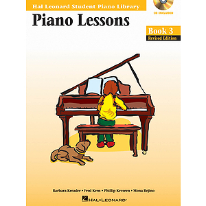 Piano Lessons Book 3 - Book/CD Pack - Revised Edition