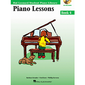 Piano Lessons Book 4 - Book/CD Pack