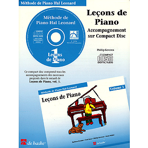 Piano Lessons Book 1 - CD - French Edition
