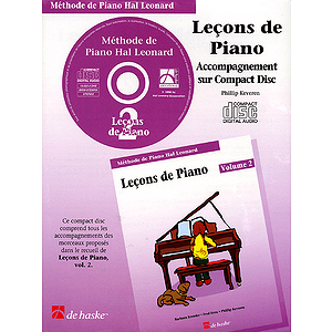 Piano Lessons Book 2 - CD - French Edition