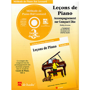 Piano Lessons Book 3 - CD - French Edition