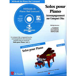 Piano Solos Book 1 - CD - French Edition