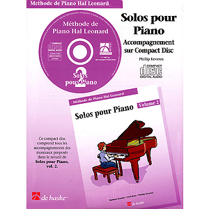 Piano Solos Book 2 - CD - French Edition